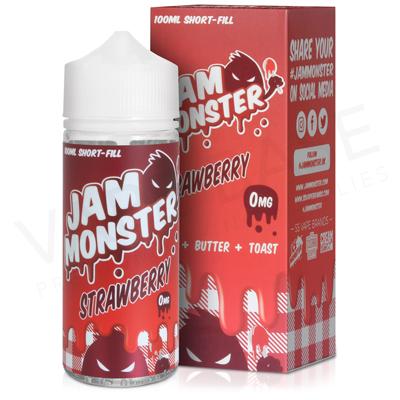 Strawberry E-Liquid by Jam Monster 100ml