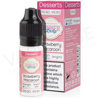 Strawberry Macaroon E-Liquid by Dinner Lady Desserts 50/50