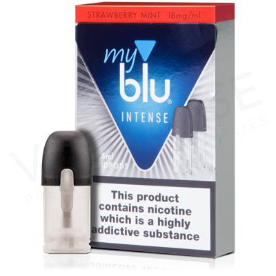 Strawberry Mint Salt Nicotine Pod E-Liquid by Myblu Intense