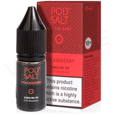 Strawberry Nicotine Salt E-Liquid by Pod Salt