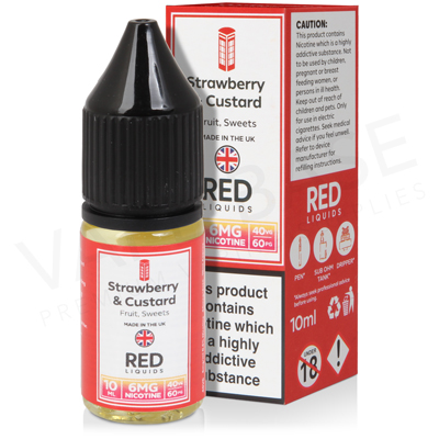 Strawberry & Custard E-Liquid by Red Liquid 40/60