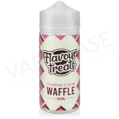 Strawberry and Cream Waffle Shortfill E-Liquid by Flavour Treats 100ml