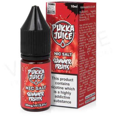 Summer Fruits Nic Salt E-Liquid by Pukka Juice