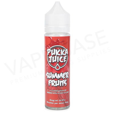 Summer Fruits Shortfill E-Liquid by Pukka Juice 50ml