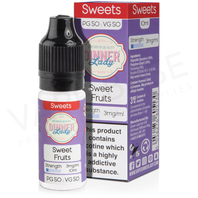 Sweet Fruits E-Liquid by Dinner Lady Sweets 50/50