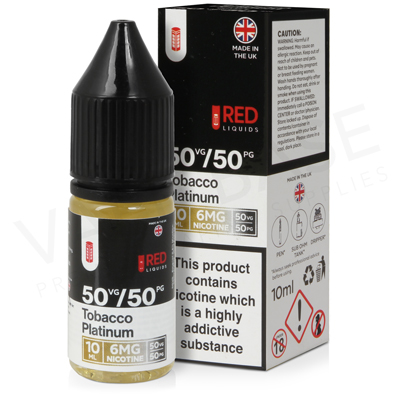 Tobacco Platinum E-Liquid by Red Liquid 50/50