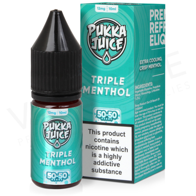 Triple Menthol E-Liquid by Pukka Juice 50/50