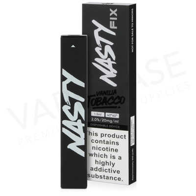 Vanilla Tobacco Disposable Pod Device by Nasty Fix